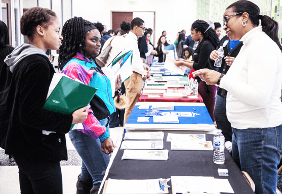 """100 Black Men Deliver """"On the Spot"""" Scholarships at Annual College Fair"""