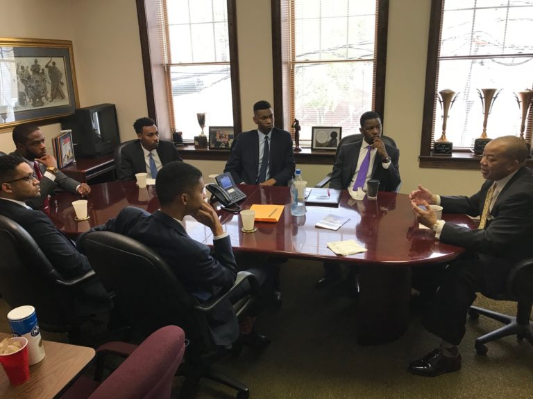 Chairman Thomas W. Dortch, Jr. hosts students from Morehouse College