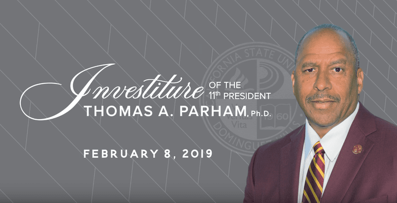 Investiture of Dr. Thomas A. Parham