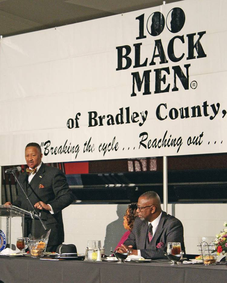Dr. Murfree Attends the 100 Black  Men of Bradley County's Scholarship and Mentoring Banquet