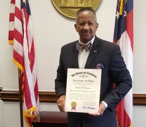 Dr. Joshua W. Murfree, Jr. an Outstanding Georgia Citizen