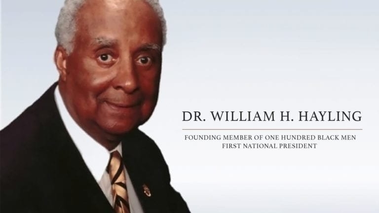 100 Black Men of America, Inc. Mourns the Loss of Dr. William H. Hayling, Founding Member of One Hundred Black Men, First National President and Respected Community Leader